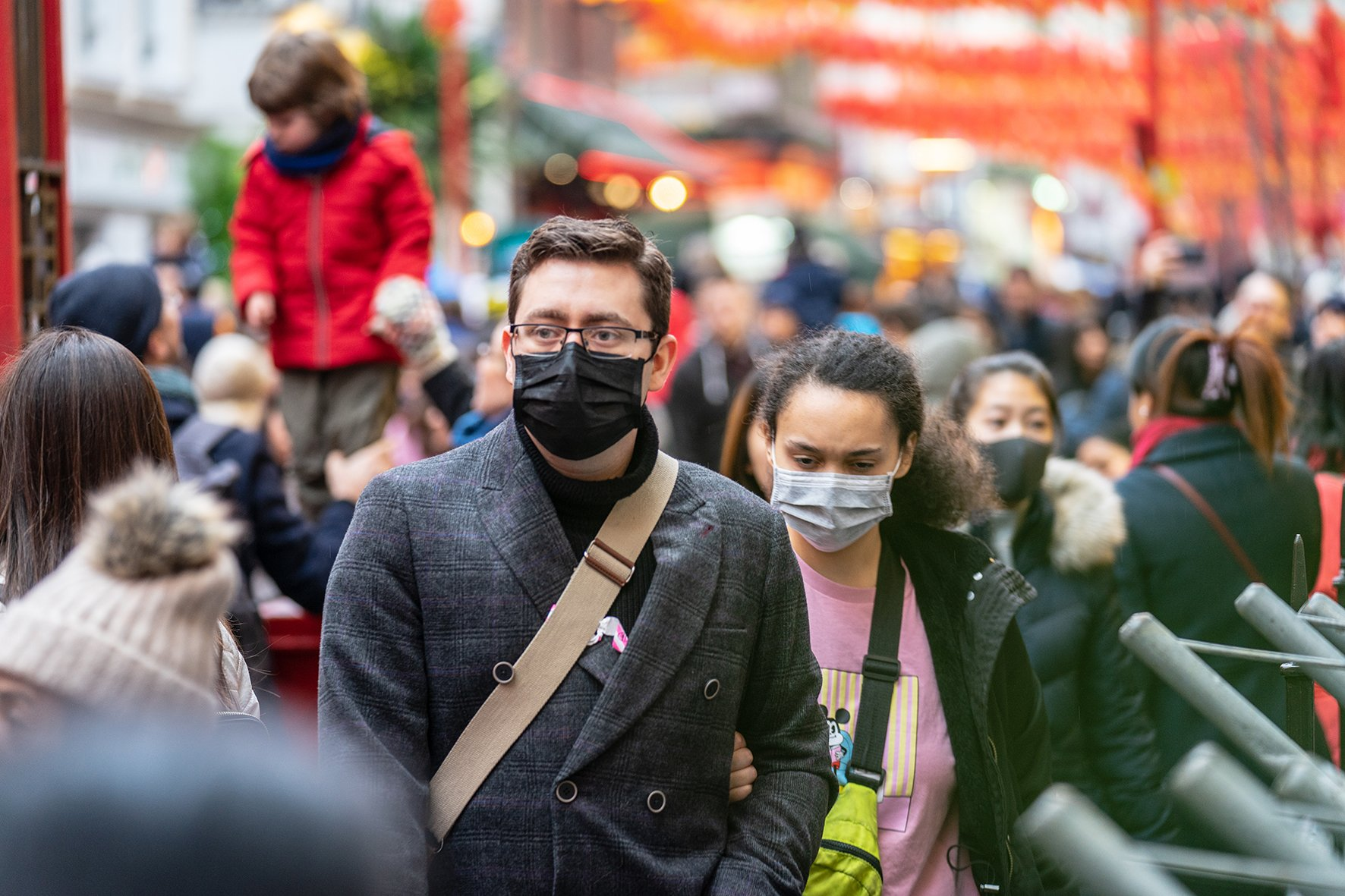 People wearing a face masks to protect themself because of the coronavirus epidemic