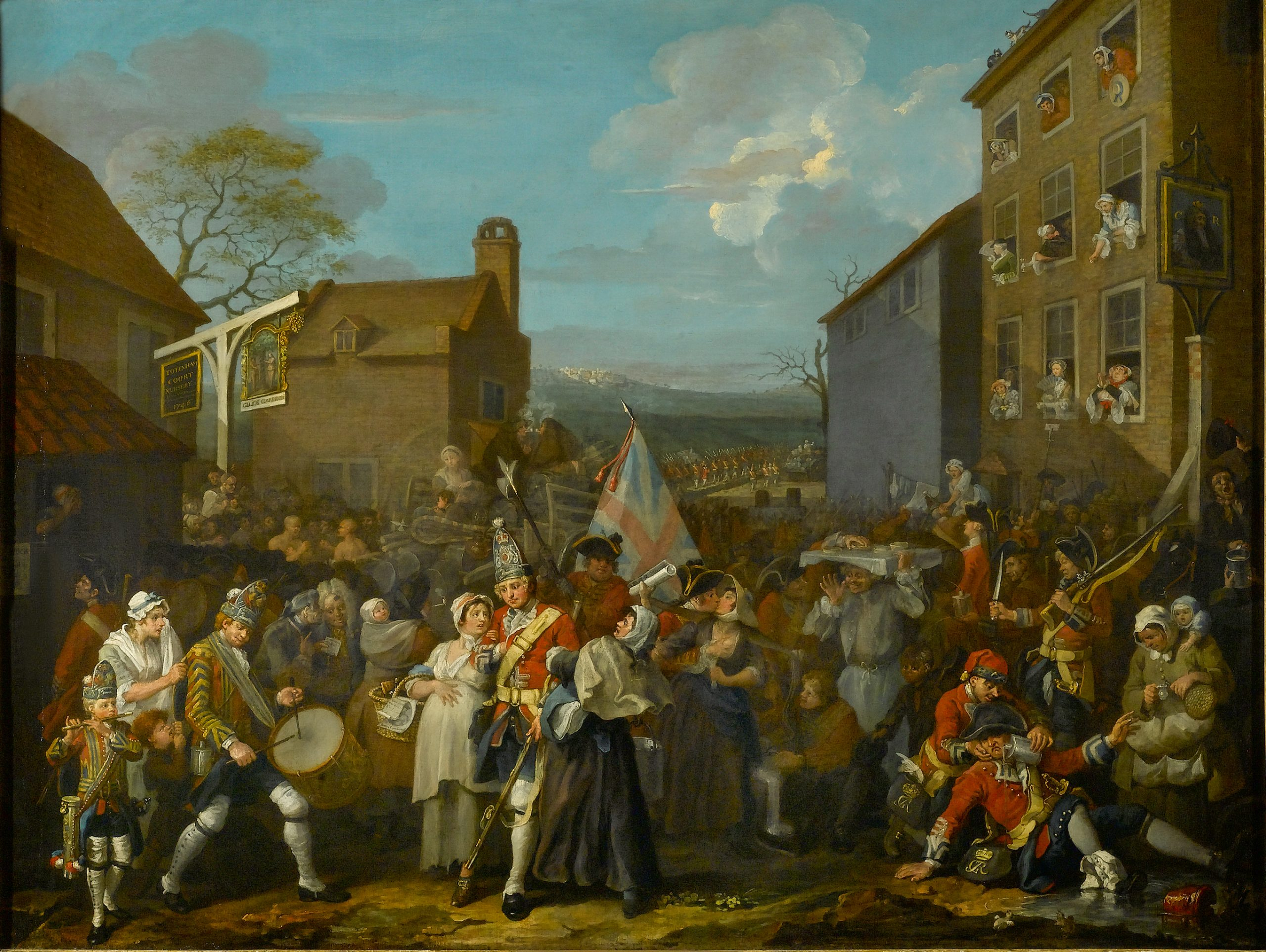 William Hogarth, The March of the Guards to Finchley, 1750