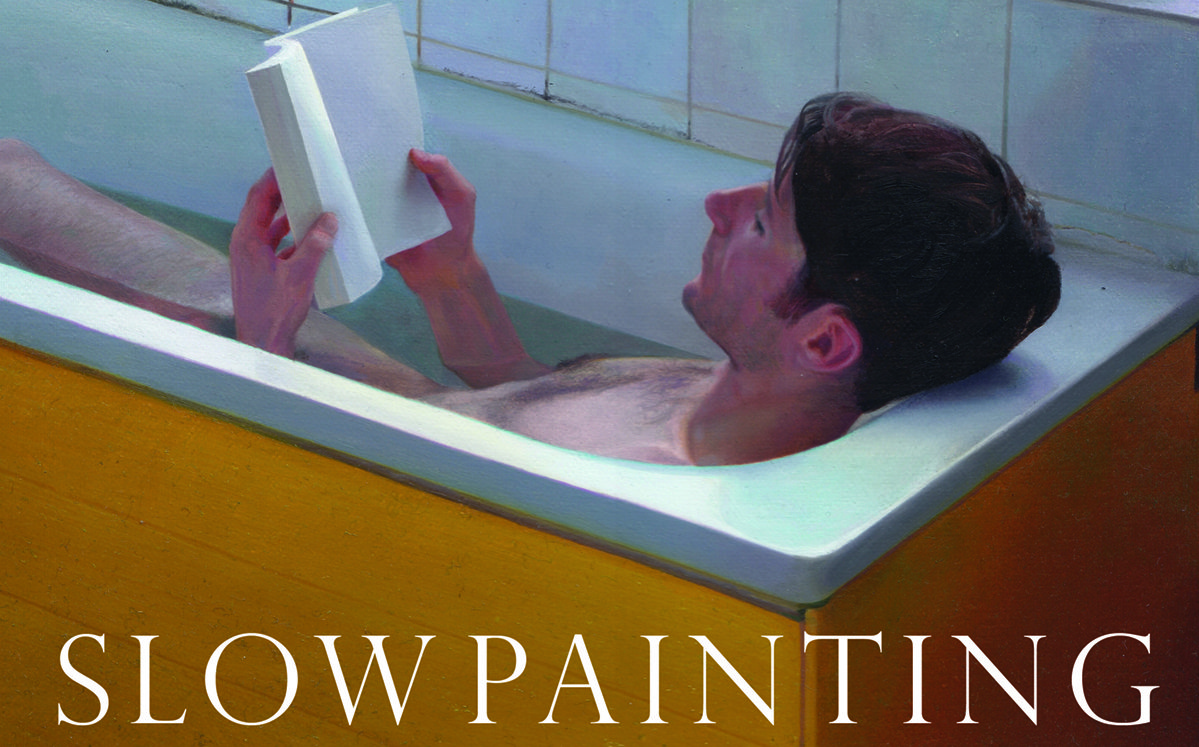 Section of the front cover of Slow Painting