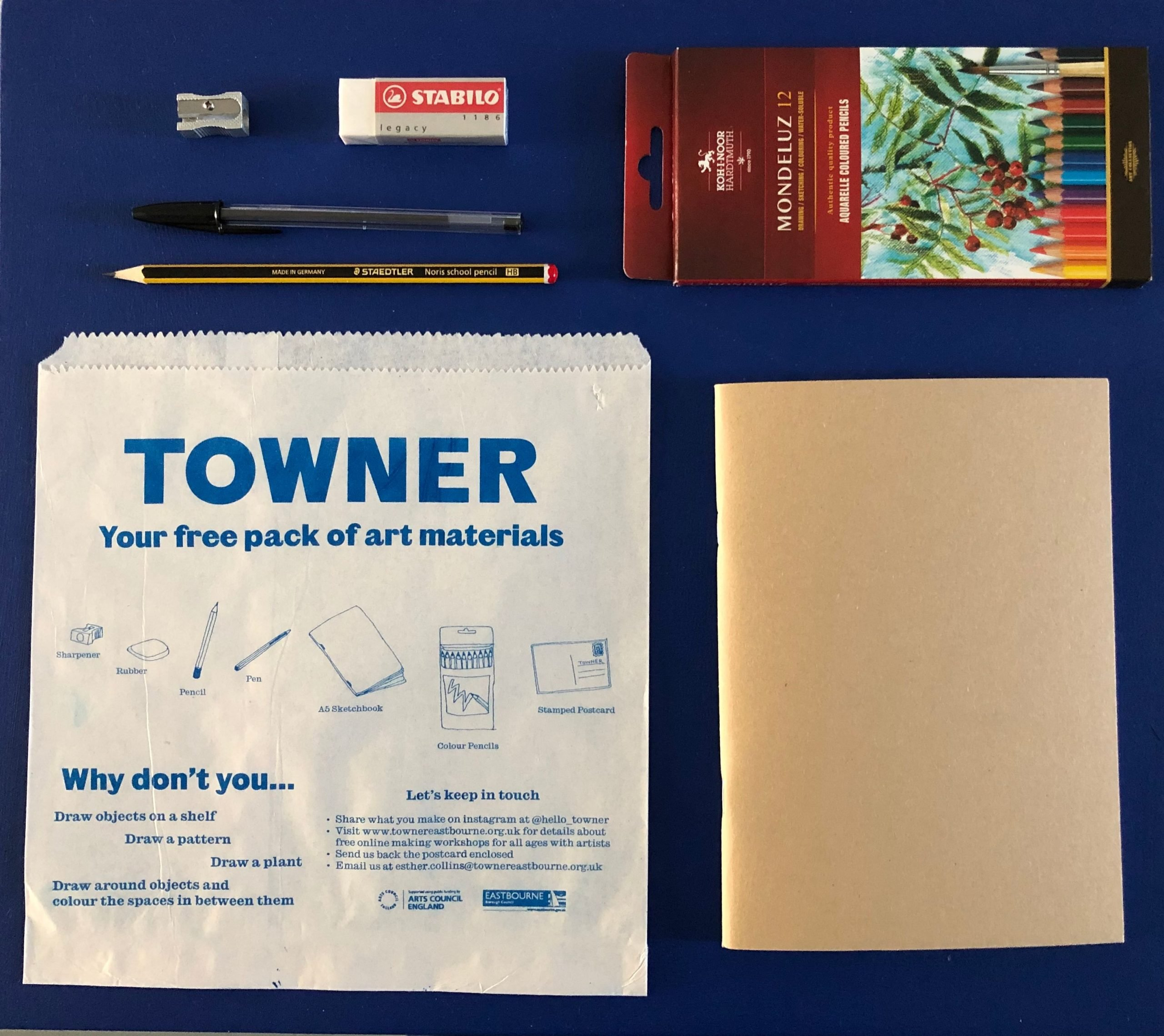 The Towner art gallery posted packs of art materials to vulnerable families during lockdown