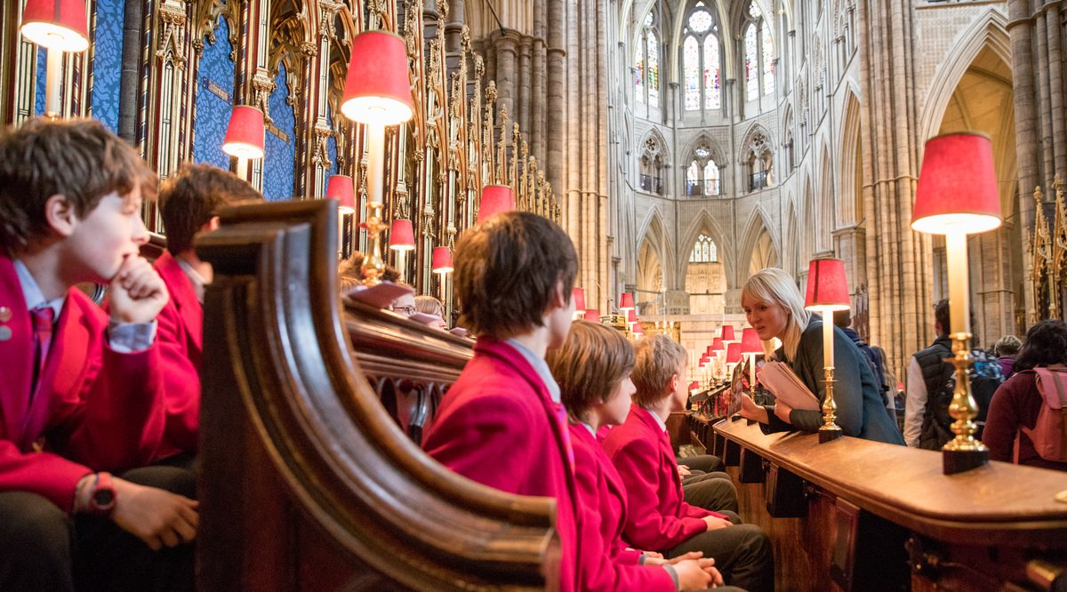 A school visit to Westminster Abbey before lockdown