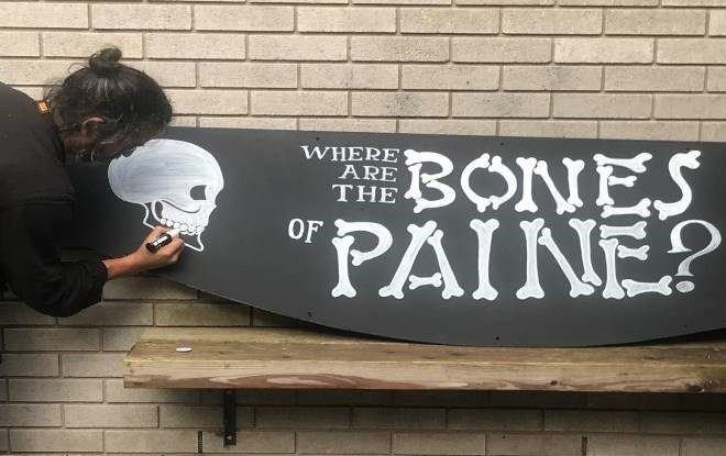 Bones of Paine 2019 Procession, a collaboration between outdoor arts experts Walk the Plank and the Working Class Movement Library. Image by Chris Payne.
