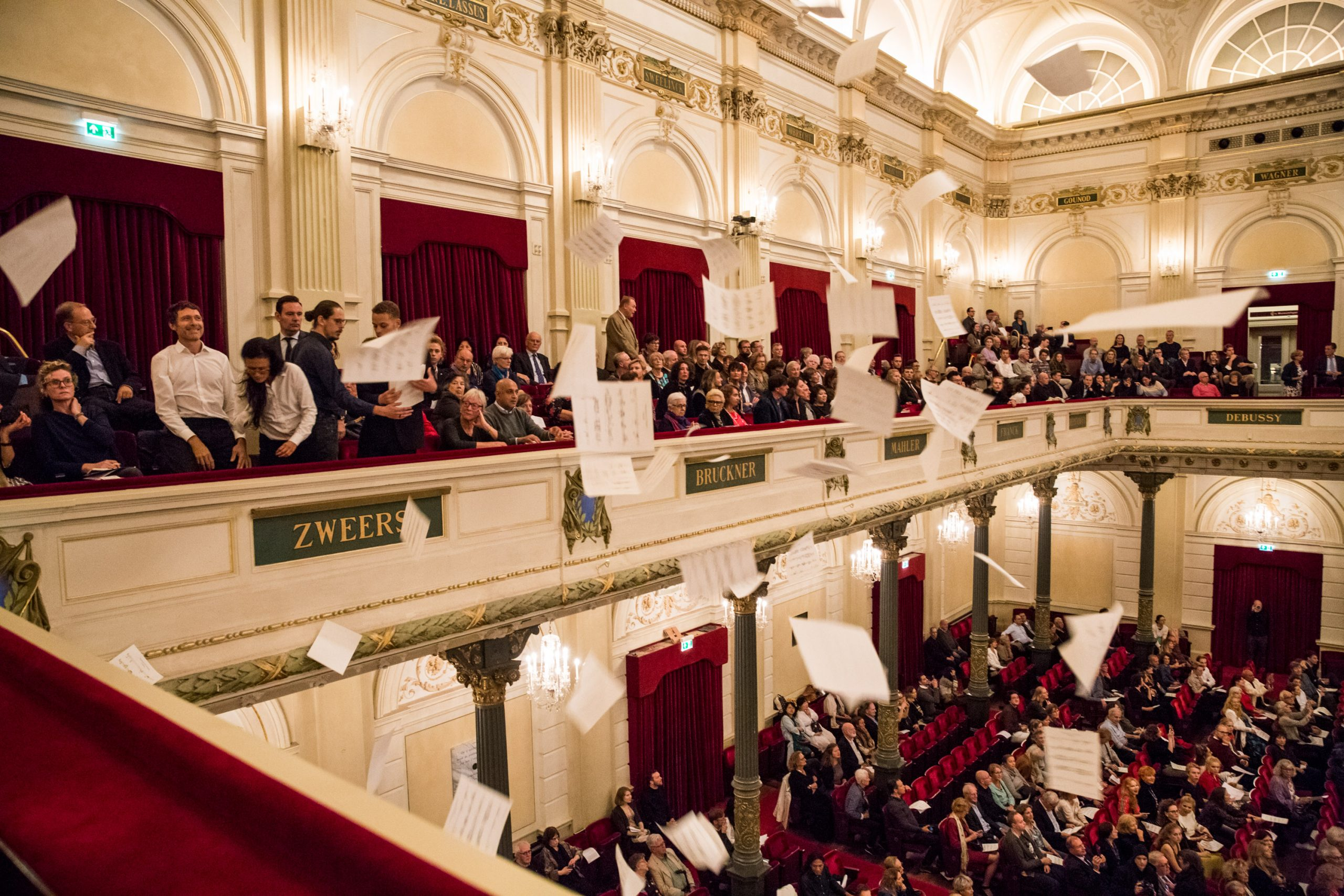A protest at the Concertgebouw by Fossil Free Culture Netherlands