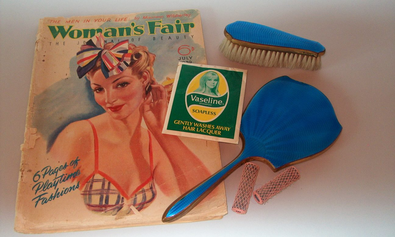 A selection of items from Chertsey Museum's reminiscence boxes