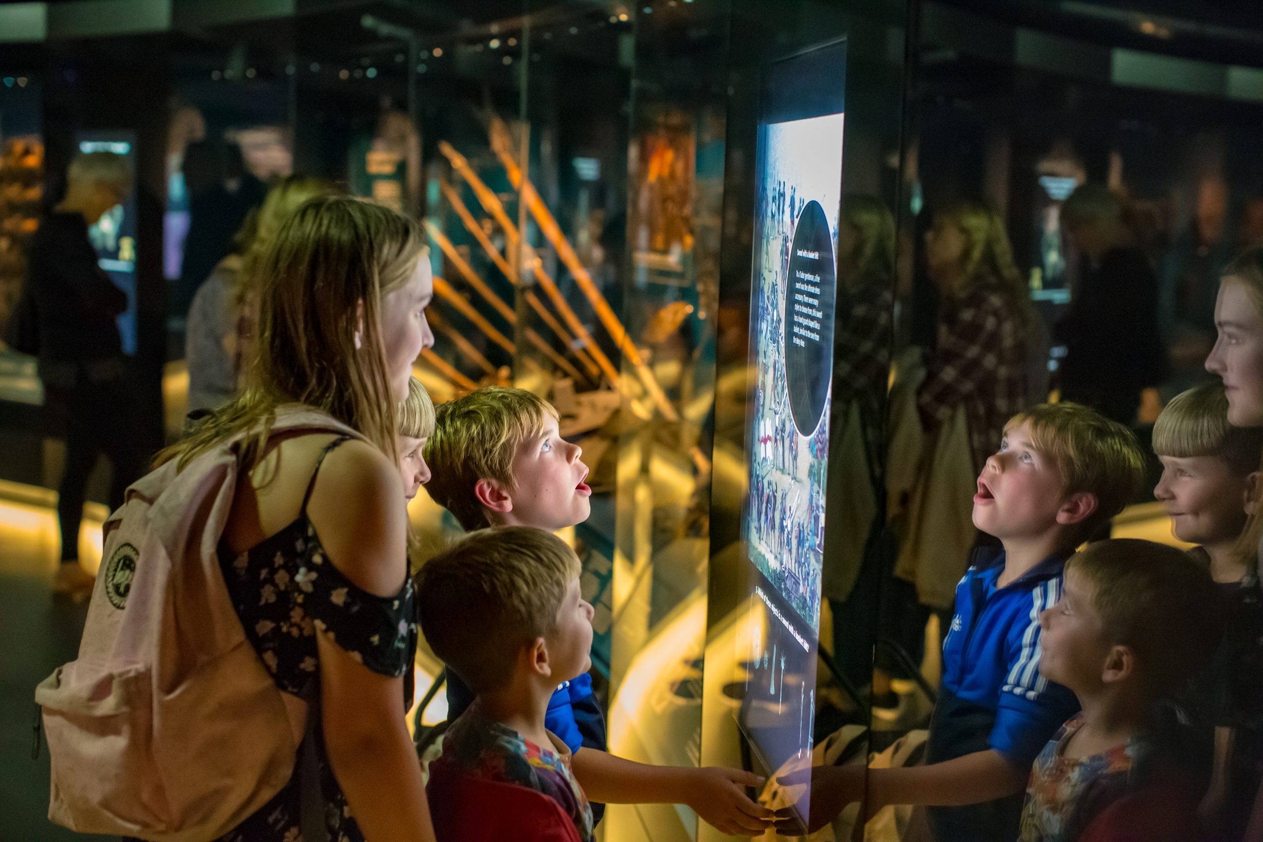 Visitors at the Mary Rose Museum, which has received funding from ACE's Culture Recovery Fund