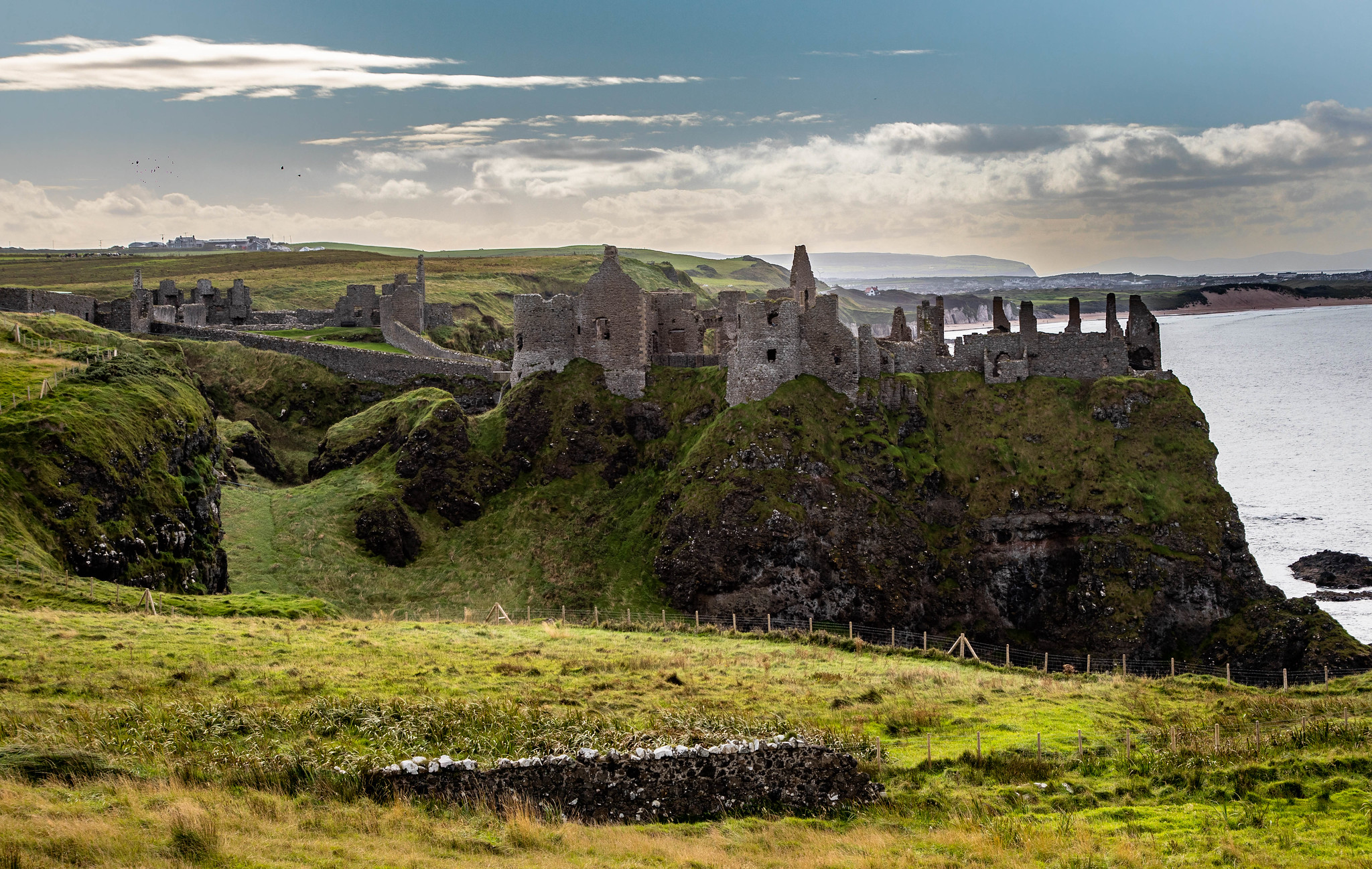 Dunluce Castle in County Antrim