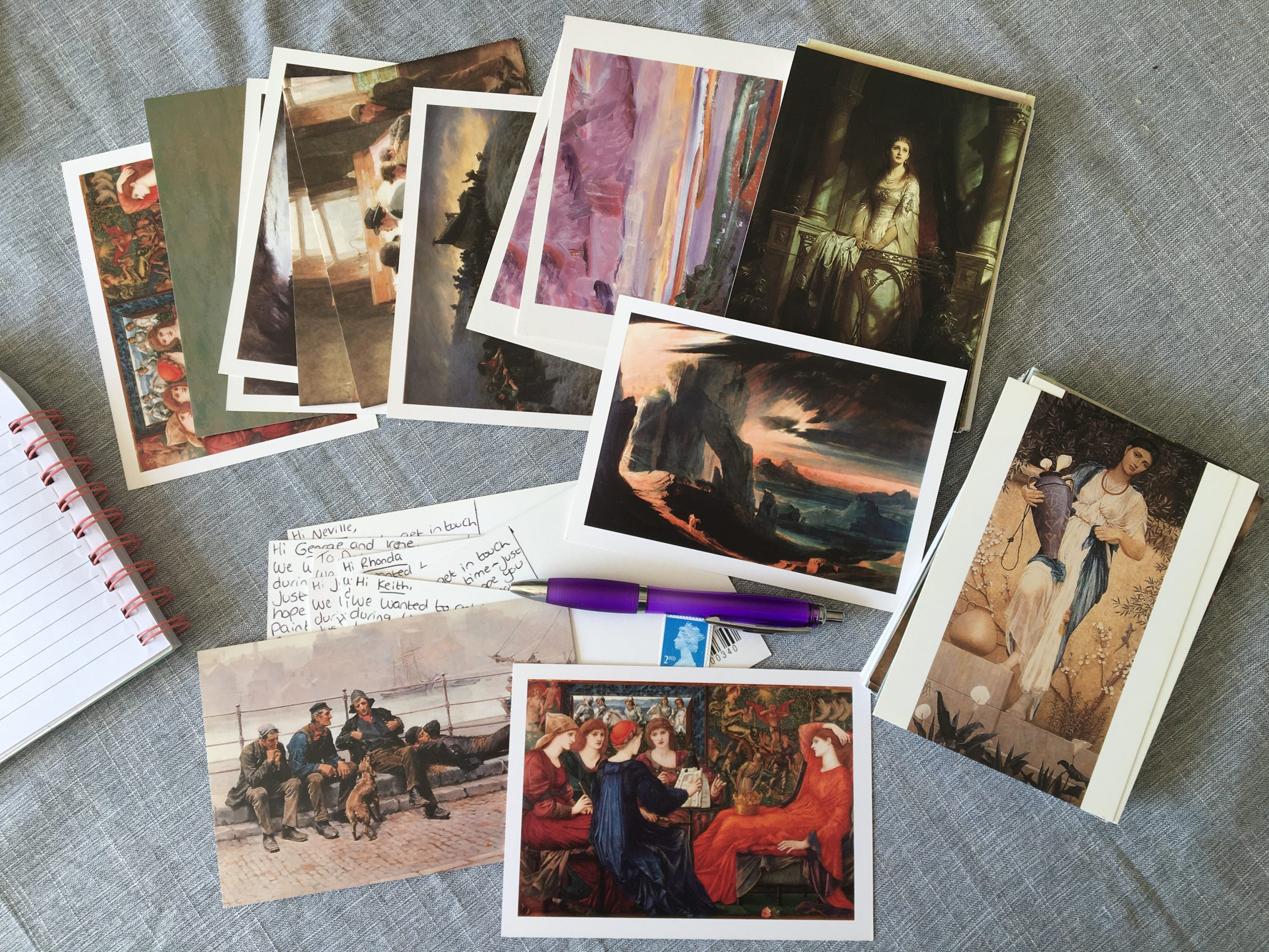 A selection of postcards sent to care home residents during lockdown
