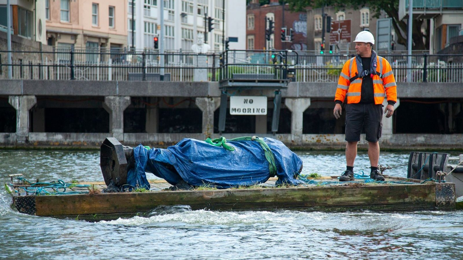 The statue will be displayed as it looked when it was retrieved from Bristol harbour last year