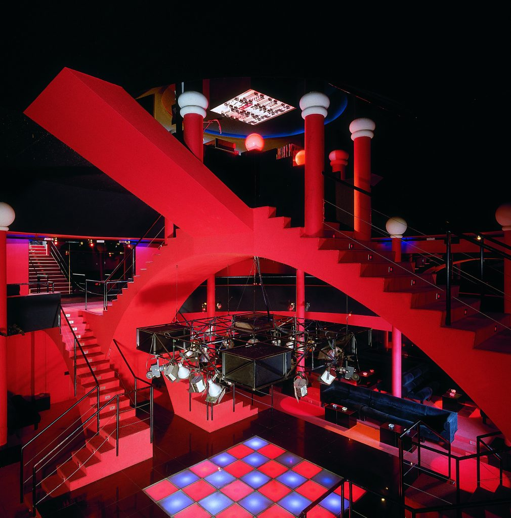 A photograph of the inside of a nightclub