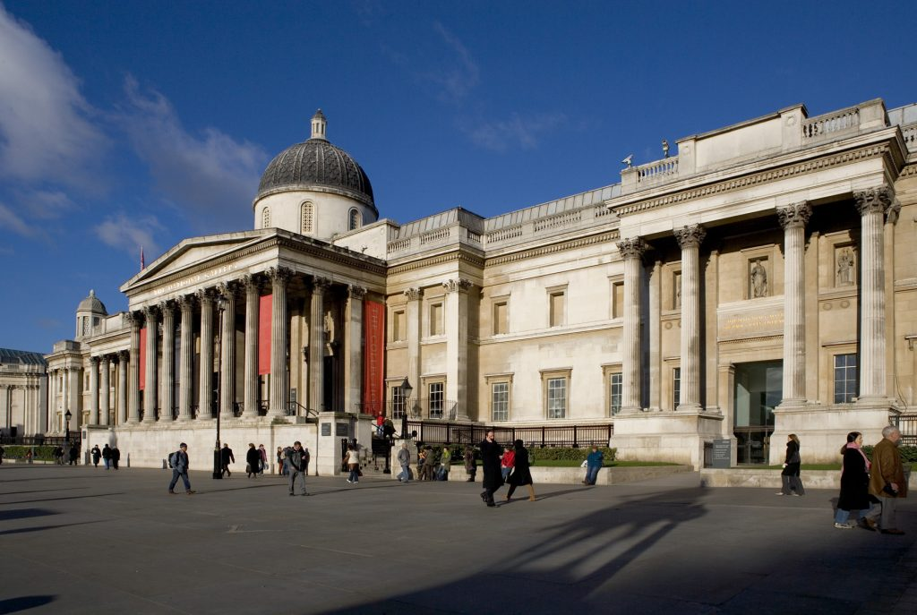 An image of the exterior of the National Gallery