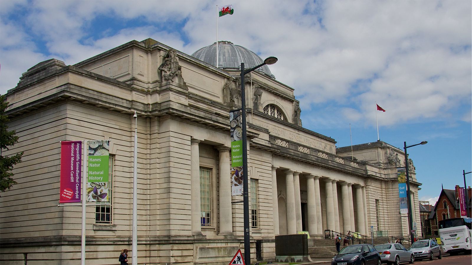 The National Museum Cardiff has transformed into a film set while it remains shut to the public
