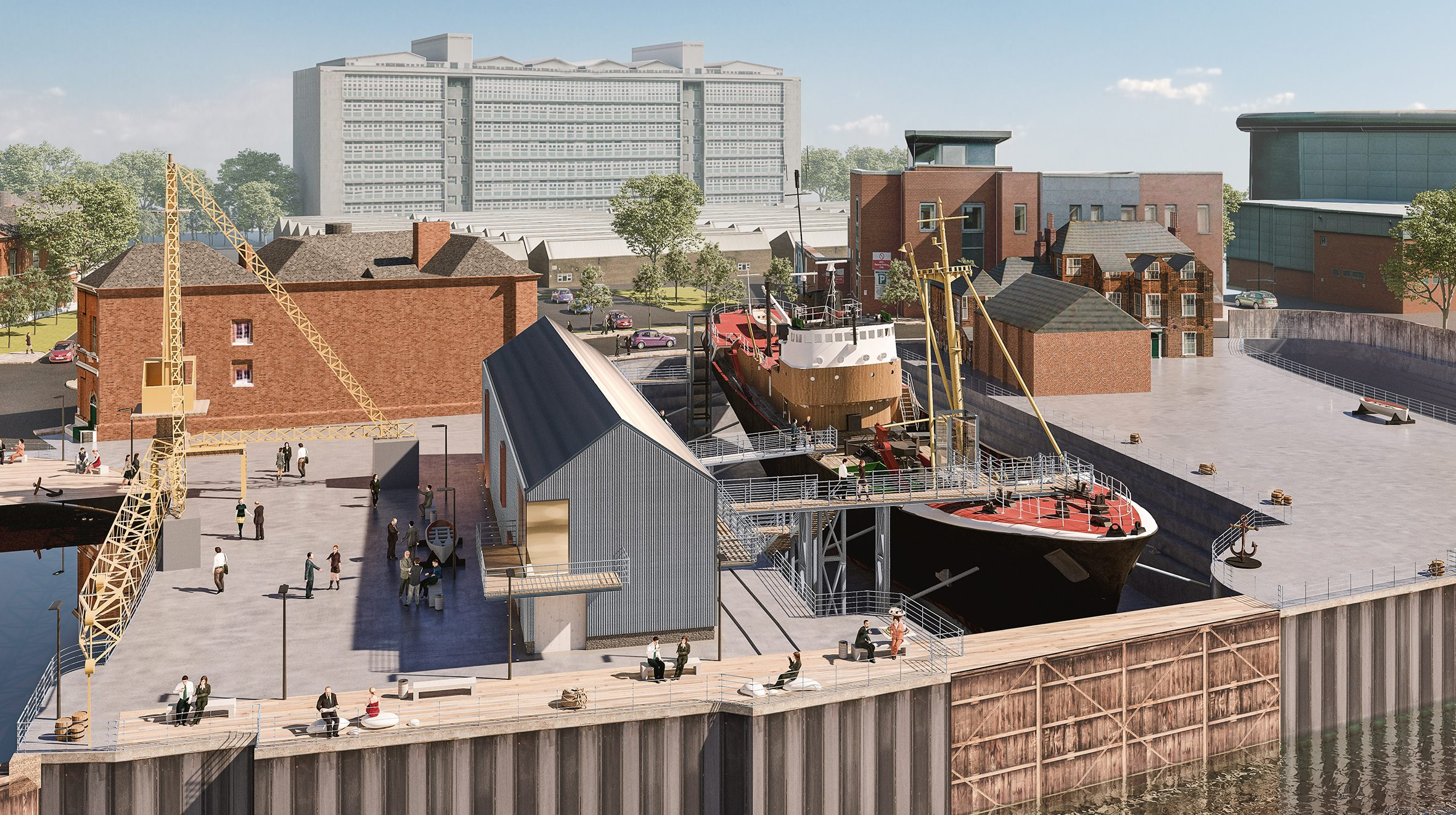 Redevelopment plans for Hull's North End Shipyard