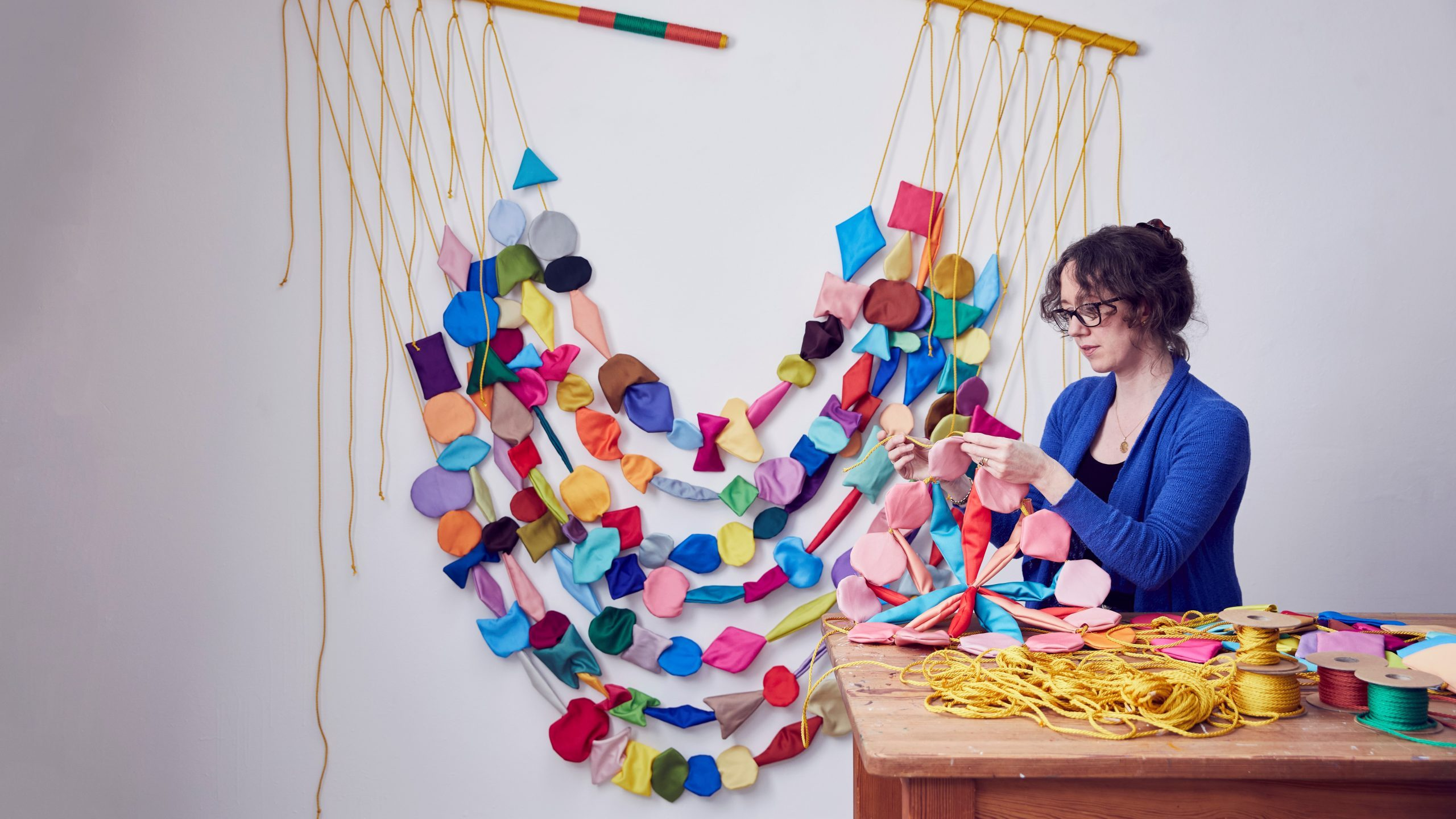 Textile artist Anna Ray, winner of the Brookfield Properties Crafts Council Collection Award at Collect 2021