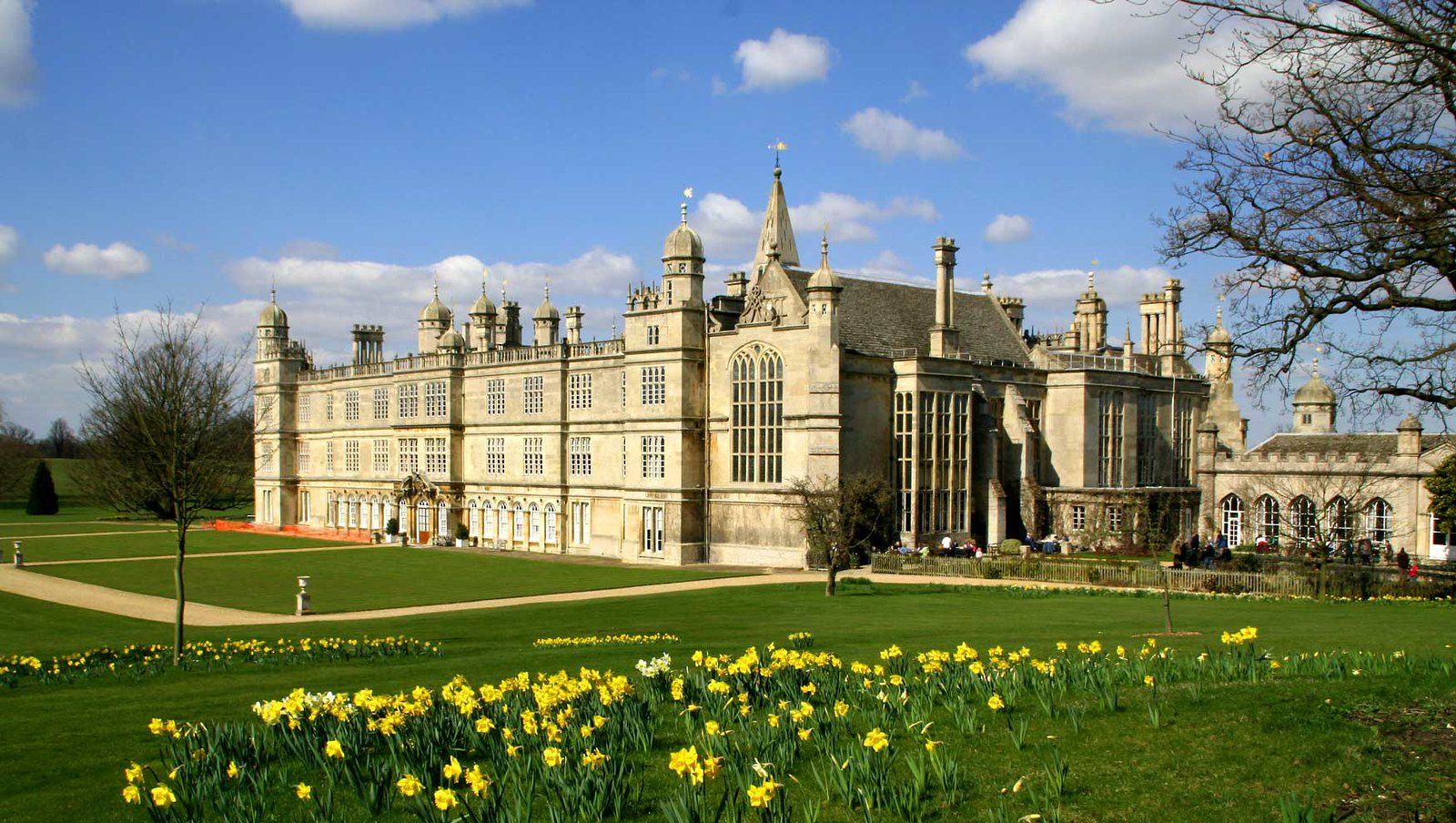 Burghley House near Stamford is one of the properties mentioned in the Historic England report