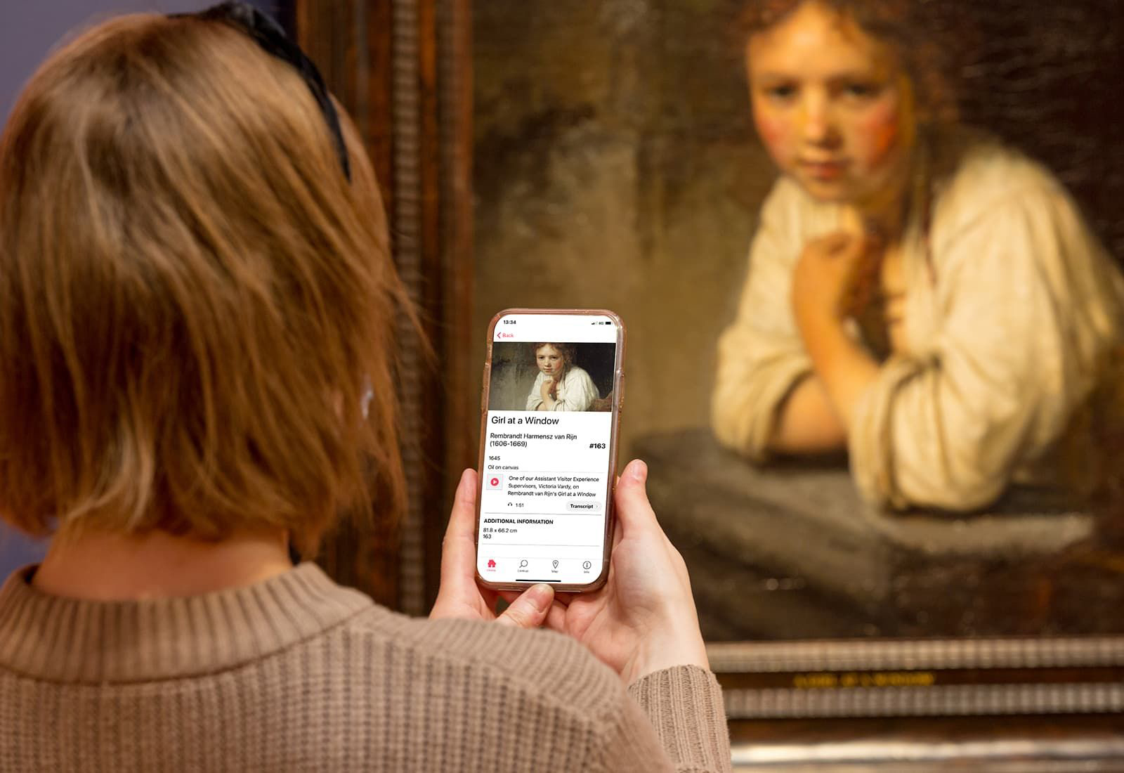 The Bloomberg Connects app featuring Rembrandt's Girl at a Window