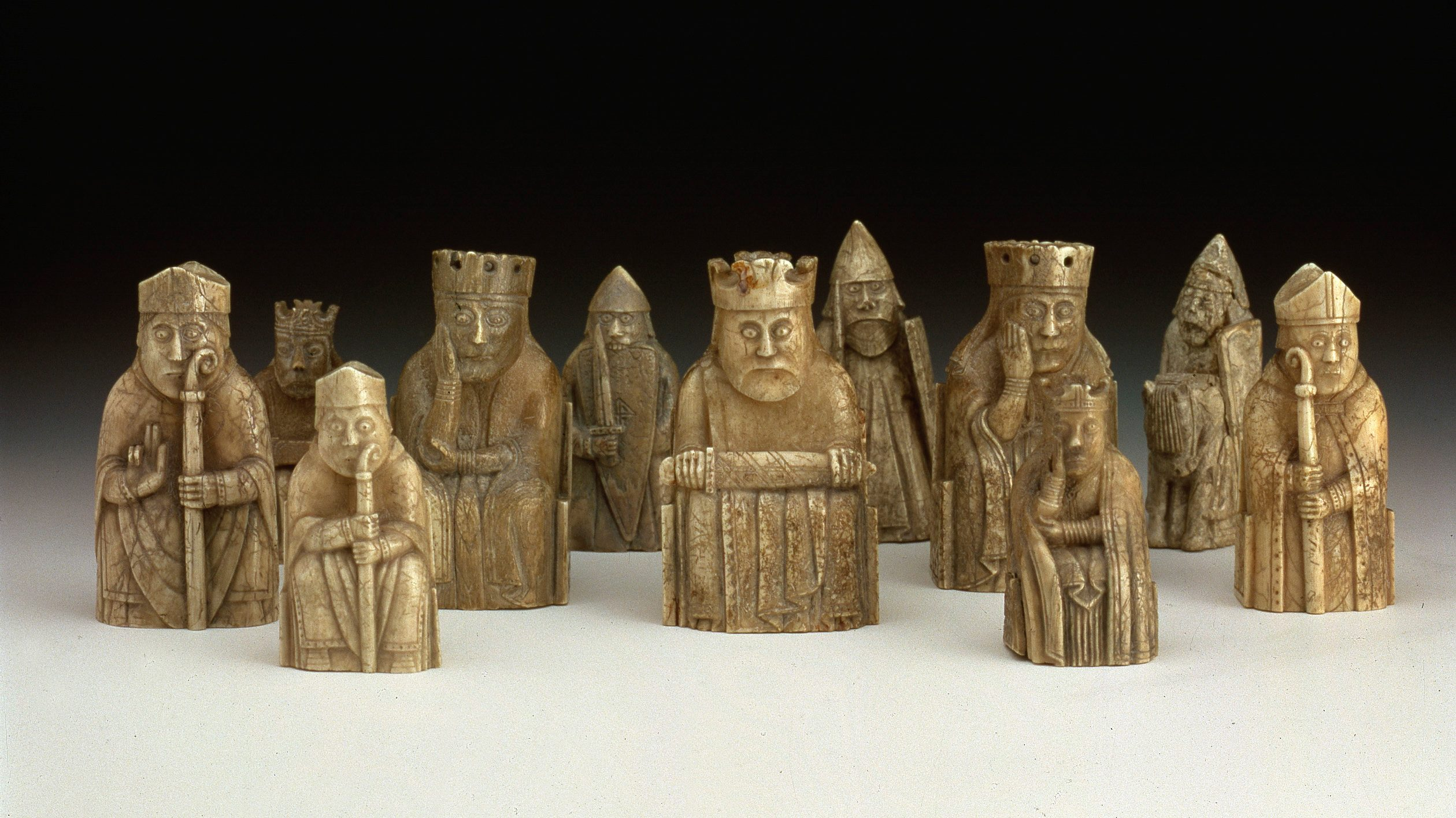The Lewis chess pieces at the National Museum of Scotland, which started welcoming the public back last month