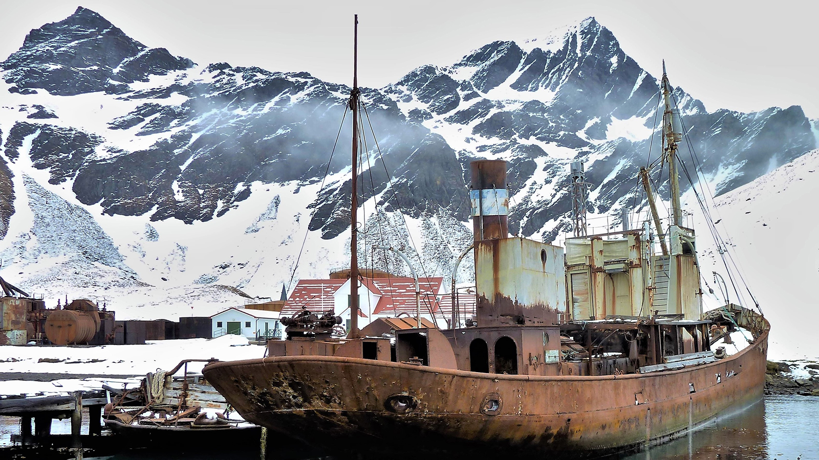 The Viola as she is currently moored at Grytviken, South Georgia