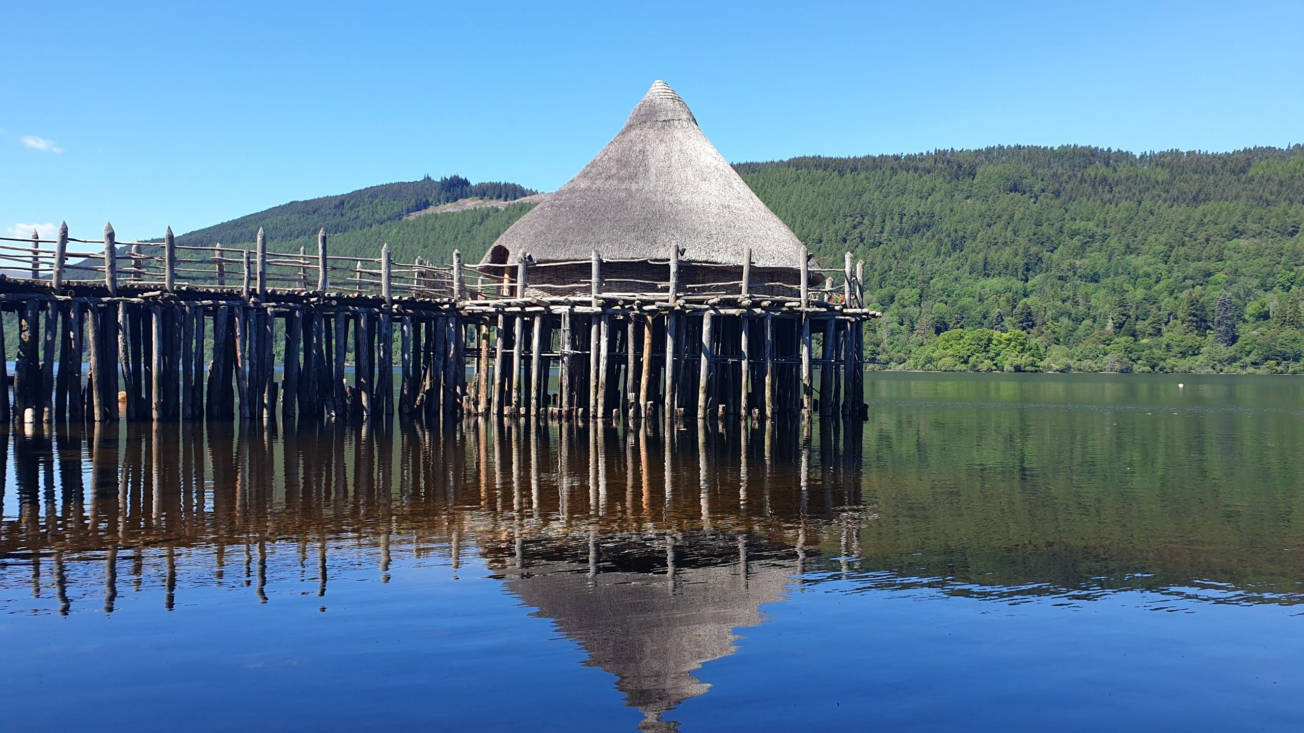 Visitors are taken through a crannog dweller's daily life