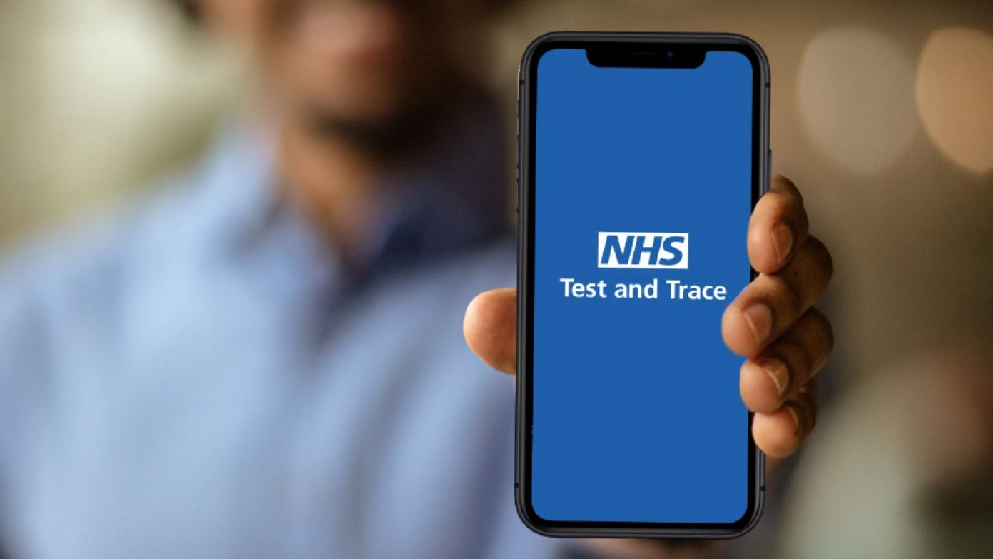 Visitors can submit their details via the NHS Test and Trace app