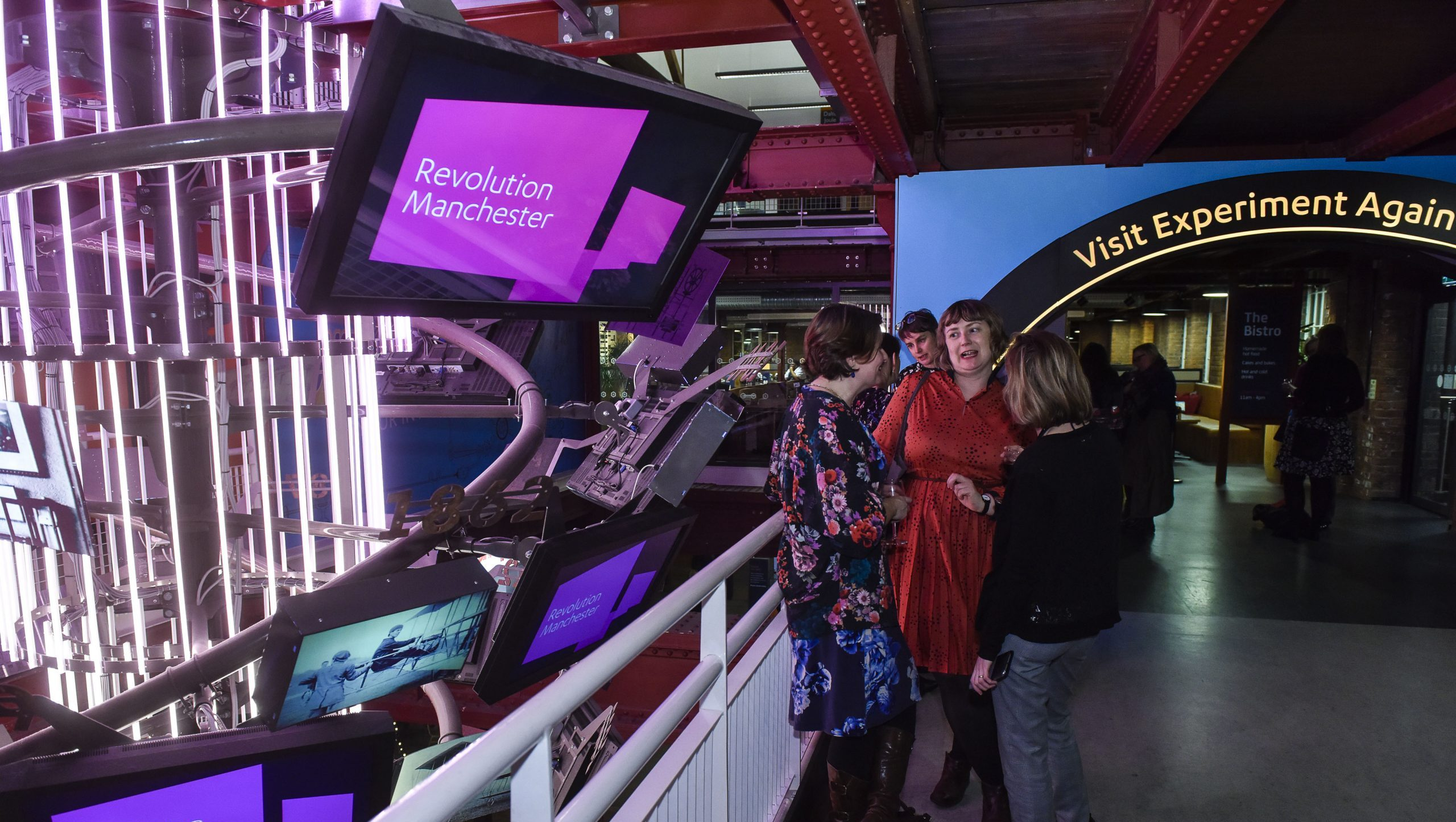 Visitors catch up at the Science and Industry Museum in Manchester