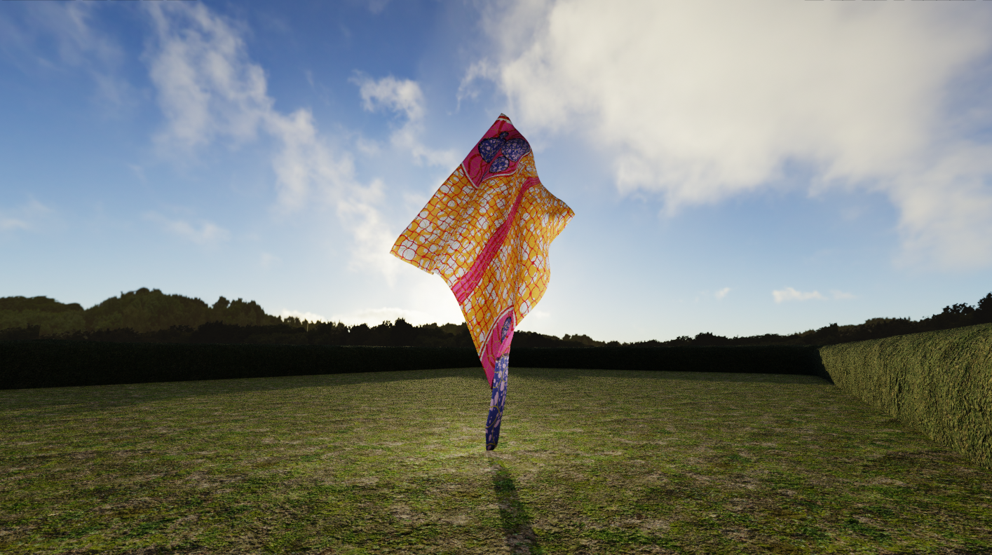 Virtual presentation of Yinka Shonibare's Wind Sculpture VII, part of Yorkshire Sculpture Park's digital revival of FABRIC-ATION (2013)