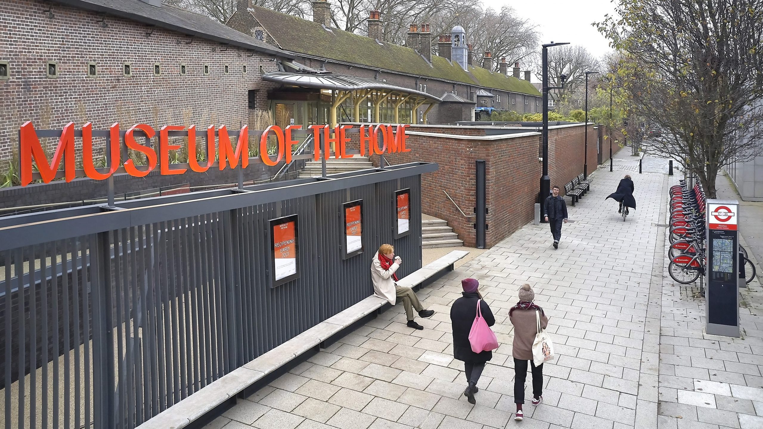 The new entrance to the Museum of the Home opposite Hoxton Station