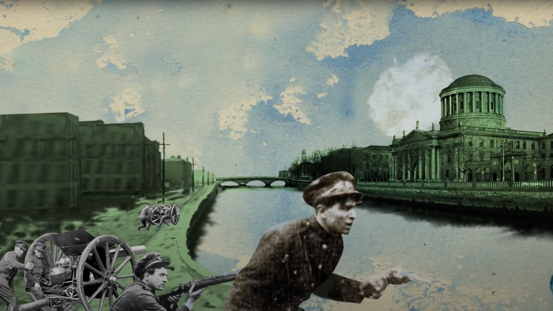 A still from a Nerve Centre animation on the partition of Ireland