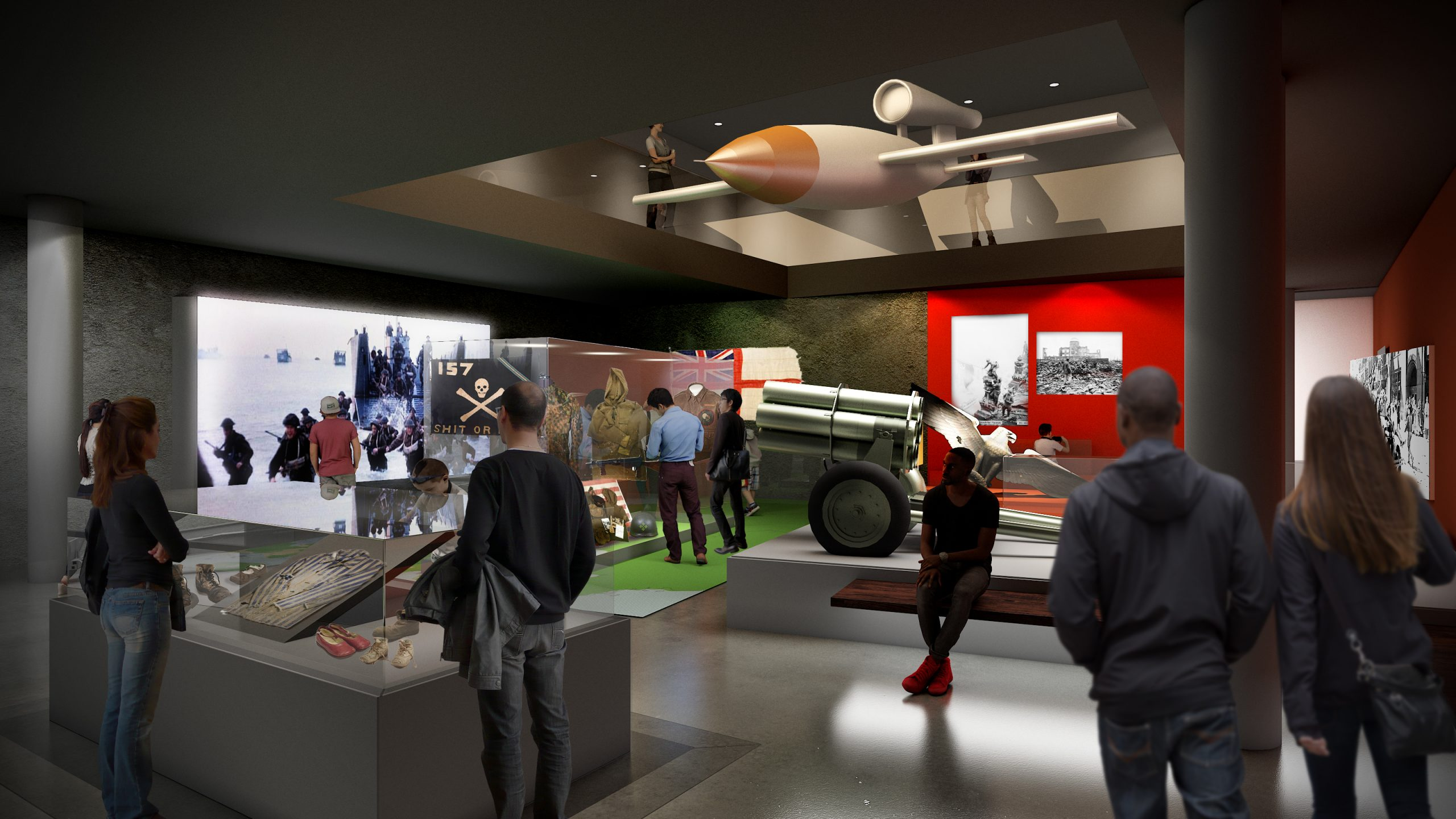 A 783kg V-1 flying bomb will be suspended between the two new galleries, presenting a striking symbol of how the Holocaust and the Second World War are interconnected