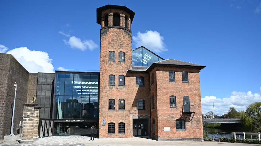 The Museum of Making is housed in a former silk mill