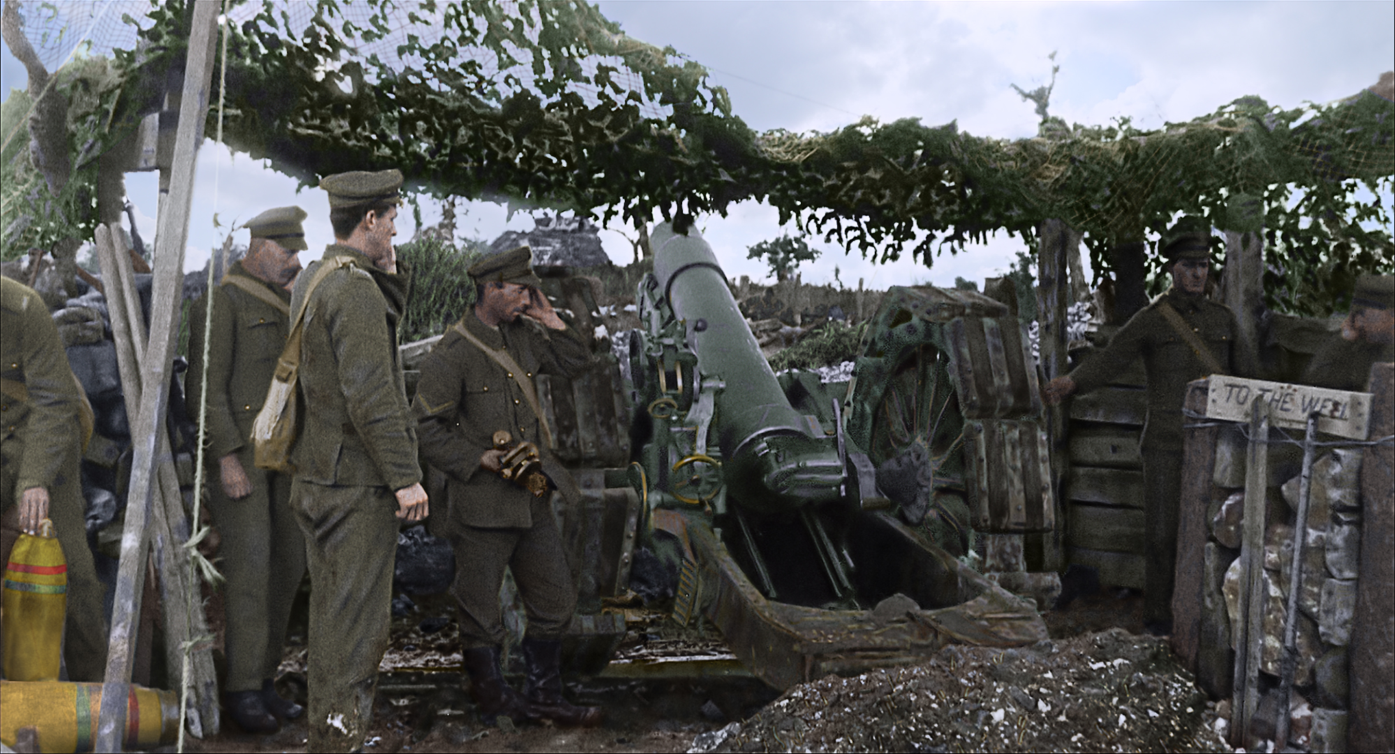 Colourised footage artistic rendition 2018, They Shall Not Grow Old by WingNut Films with Peter Jackson. Original black and white film