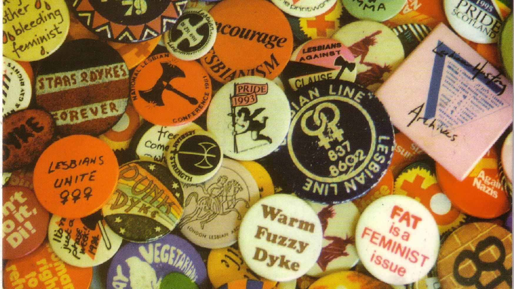 Badges from the Lesbian Archive and Information Centre