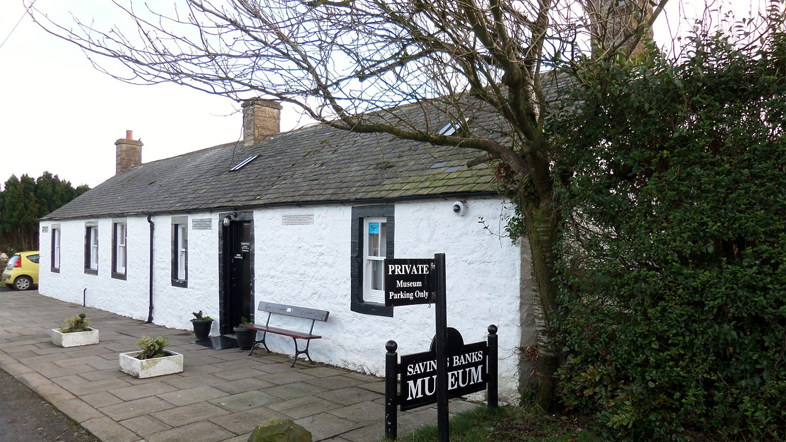 The museum is the home of the 'penny bank' founded by Henry Duncan in 1810
