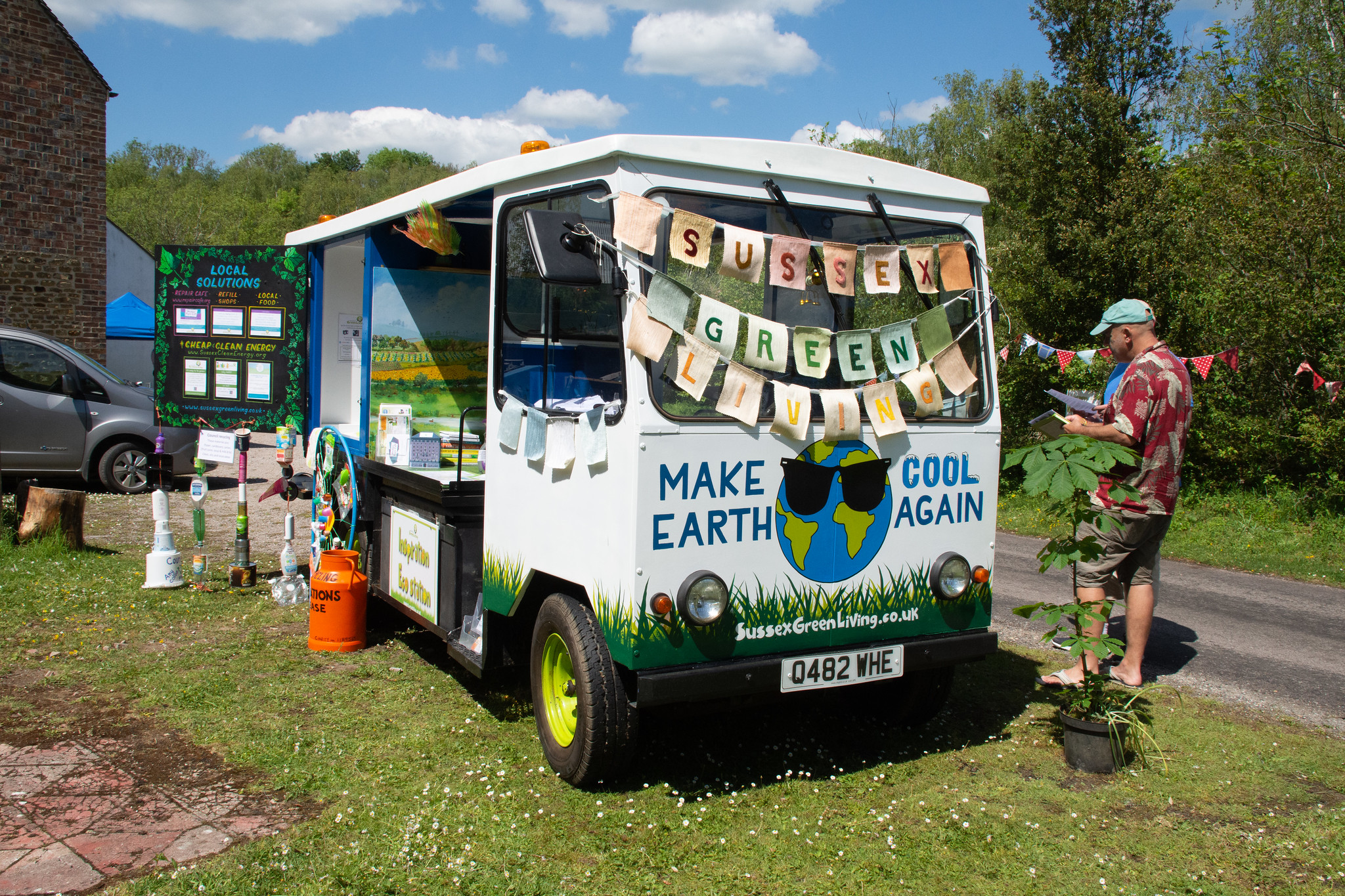 Environmental education charity, Sussex Green Living, engaged with visitors to Amberley Museum on World Environment Day