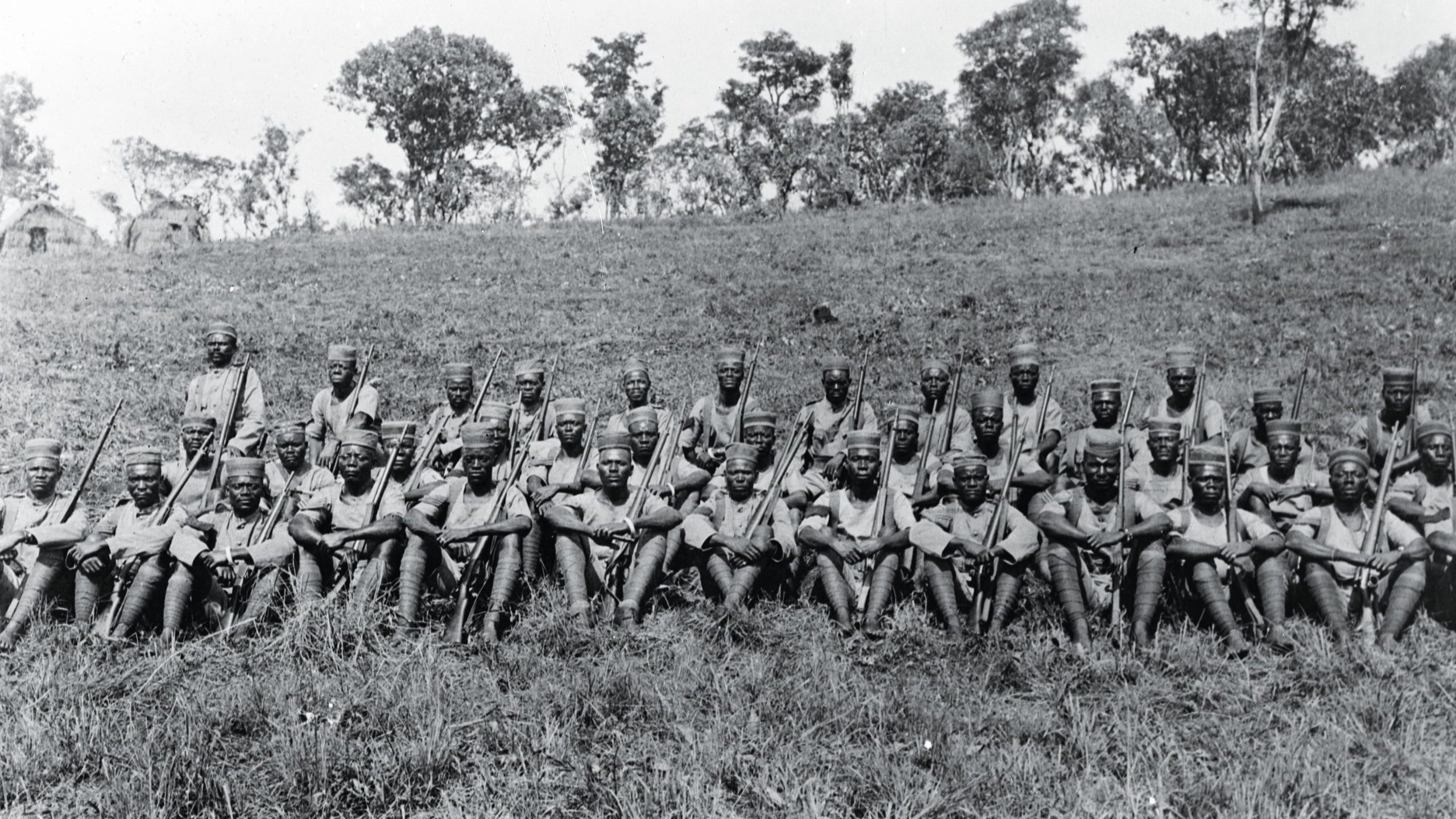 The King's African Rifles near Mssindyi, September 1917. The troop fought in the East Africa campaign. They are among hundreds of thousands of soldiers whose sacrifice has not been properly commemorated