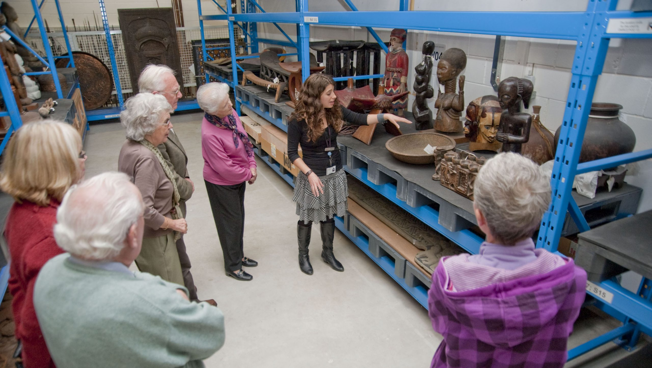 A tour at Glasgow Museums Resource Centre, part of Glasgow Life. The venue is currently closed due to Covid restrictions.