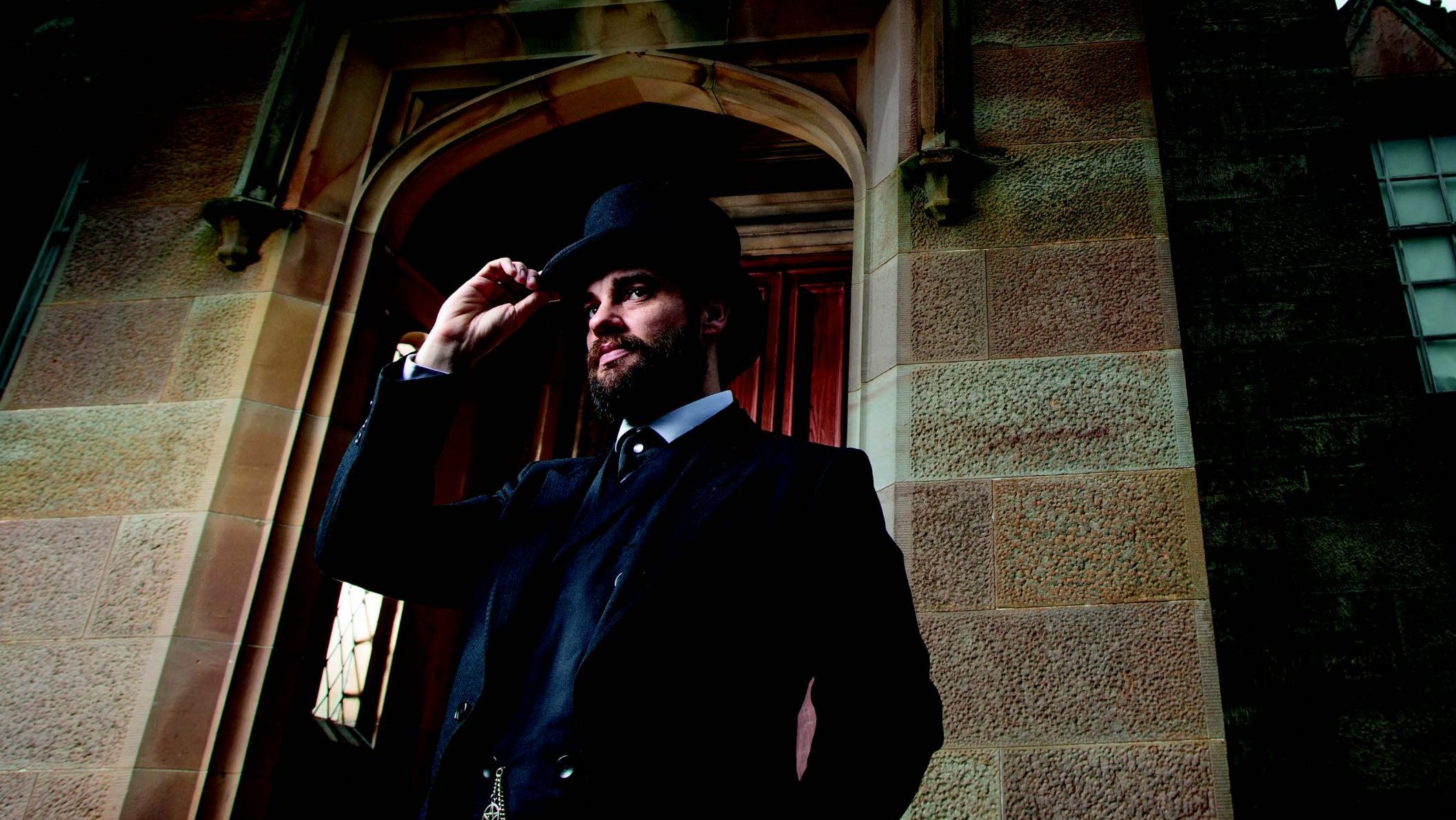 Ash Pryce volunteers at Lauriston Castle as part of Edinburgh Museums