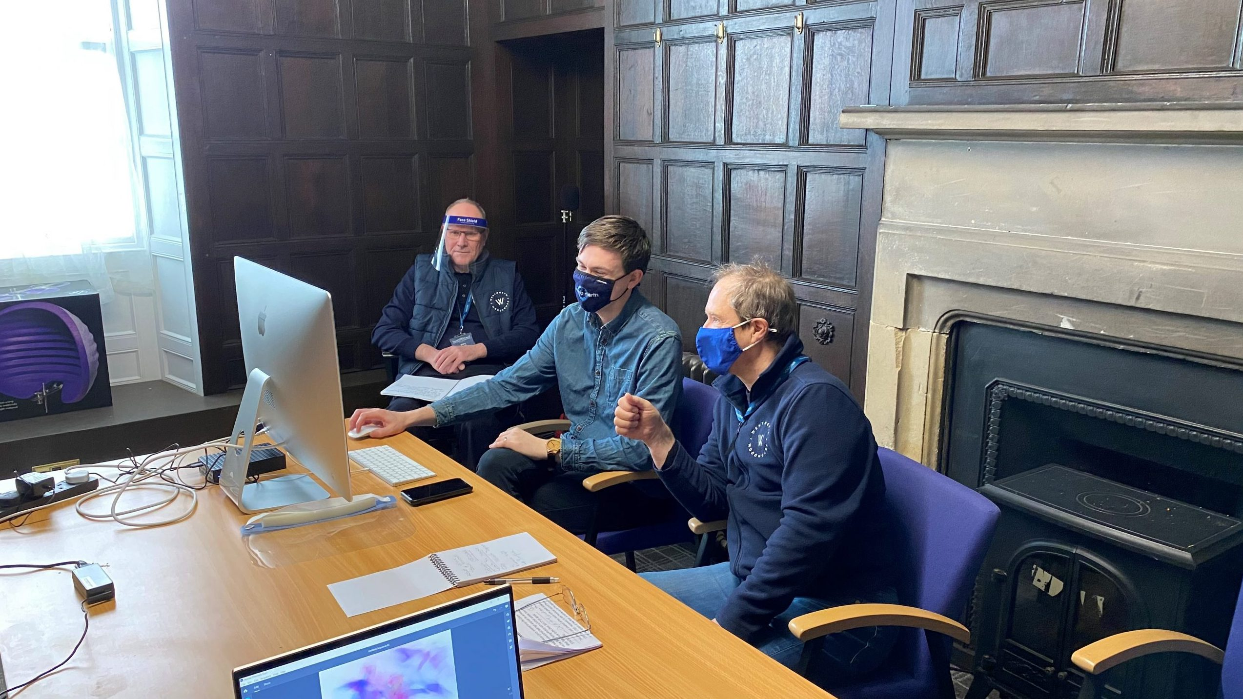 Volunteers at Wentworth Woodhouse learn how to create digital films
