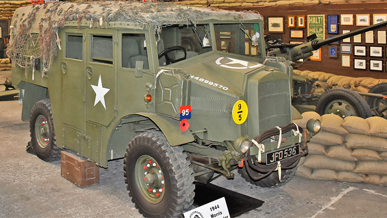 This military vehicle is one of tens of thousands of items in War Years Remembered's collection