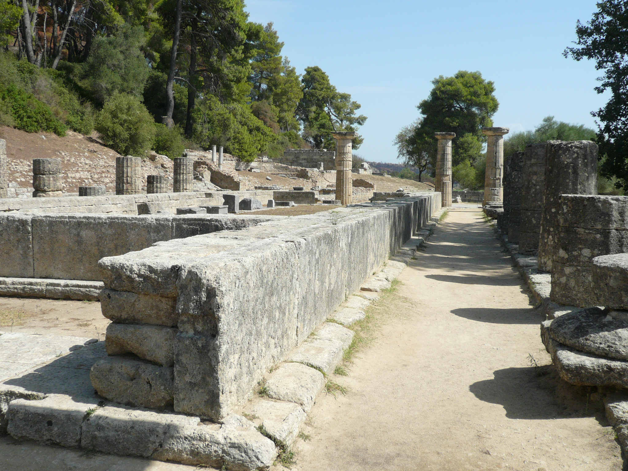The Archaeological Site of Olympia in Greece, now under threat from approaching wildfires