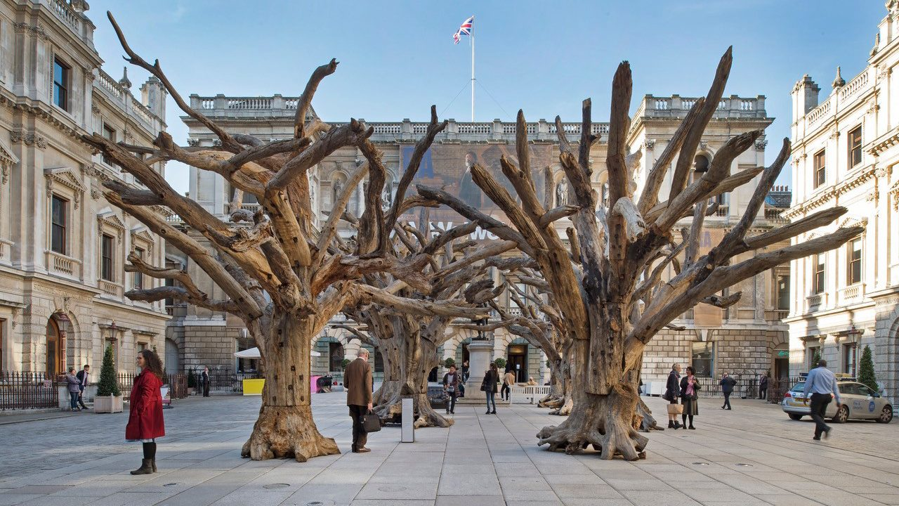 The Royal Academy ran a successful crowdfunding campaign to bring Ai Weiwei's Tree sculptures to its London site back in 2016
