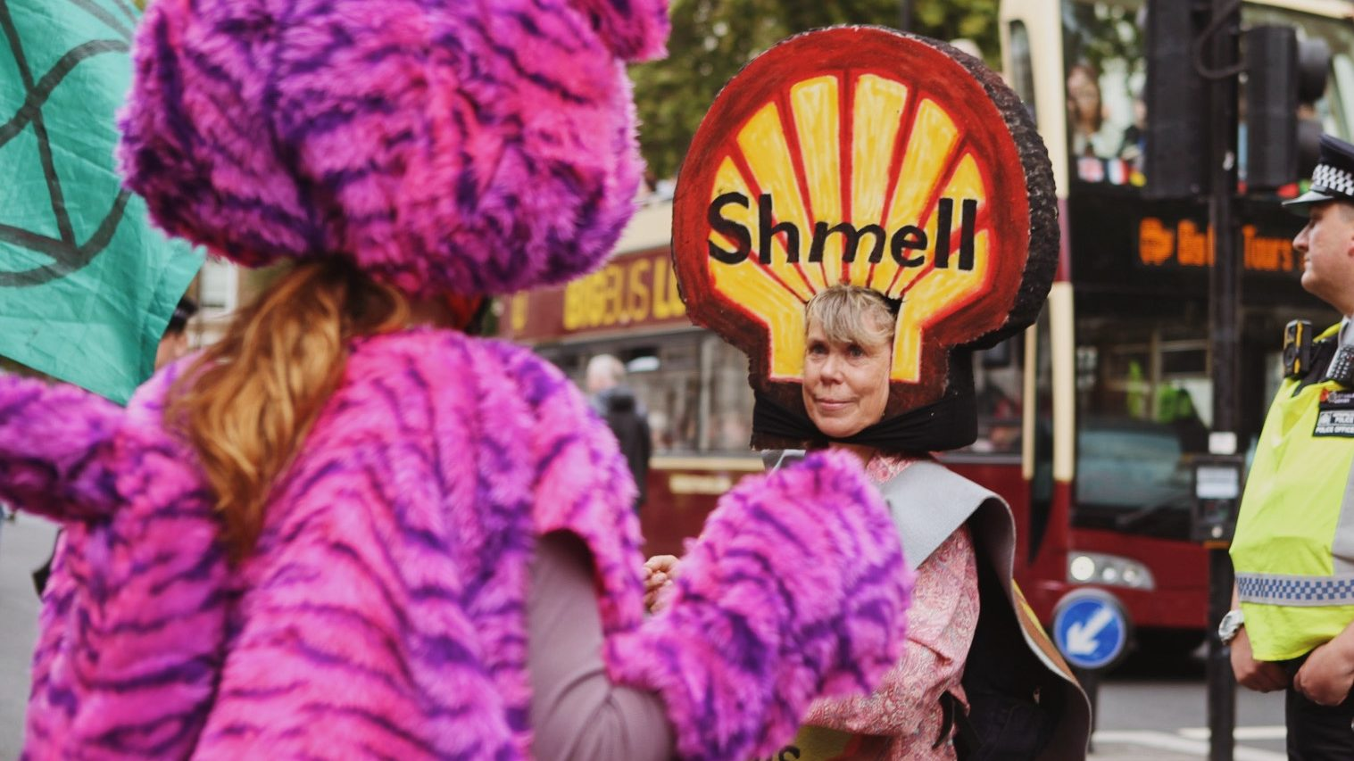 XR protesting the Science Museum's ongoing Shell sponsorship last weekend