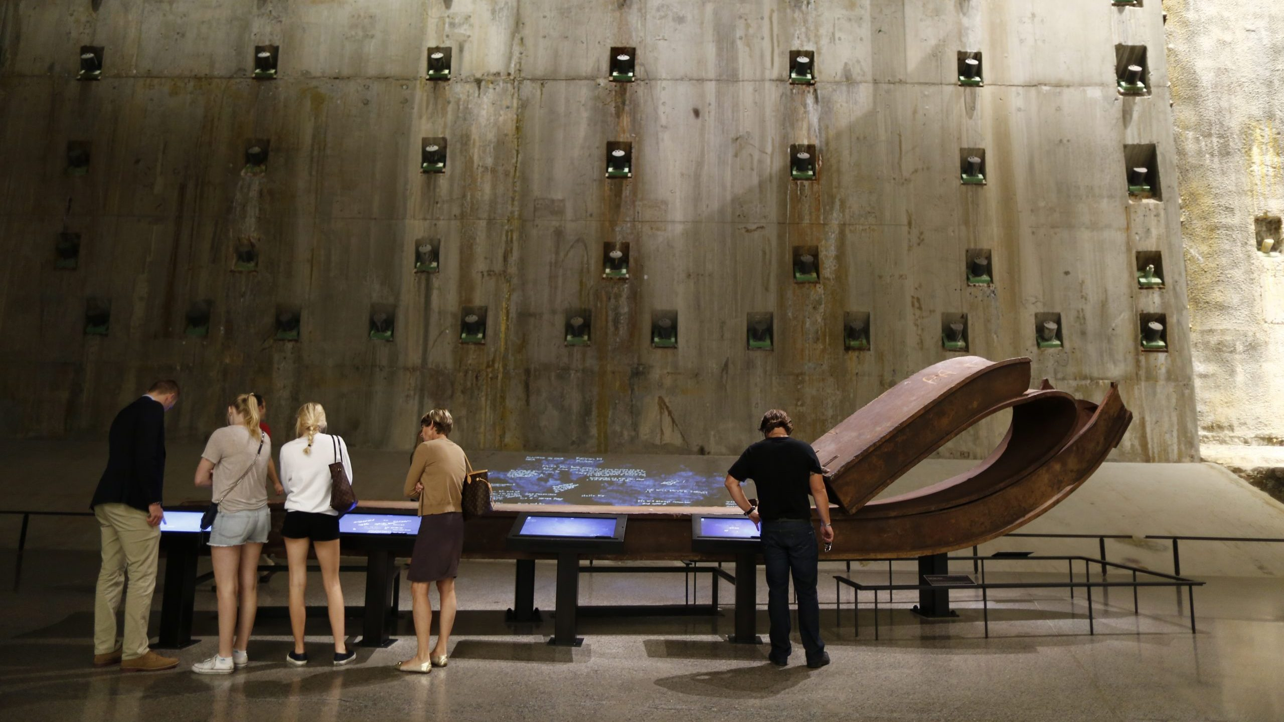 The Foundation Hall at the 9/11 Memorial & Museum in New York